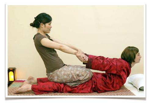 Thai Massage on a mat